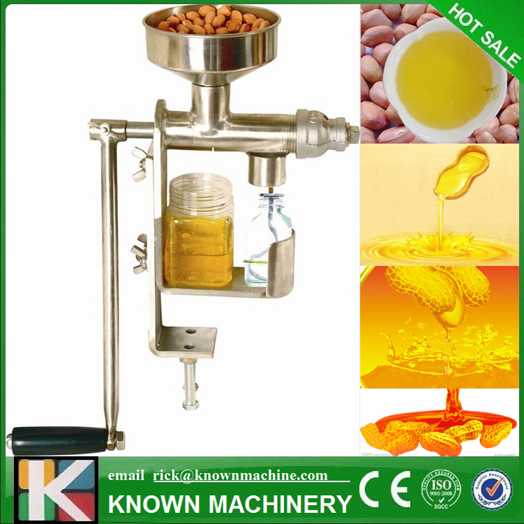 Mini manual peanut coconut sunflower sesame oil press machine oil expeller with free shipping by sea