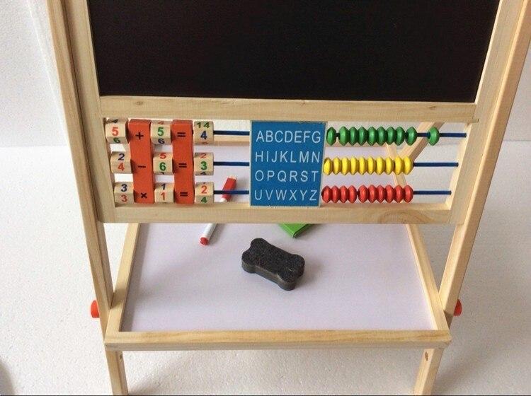 Livraison Gratuite! Double face éducatif en bois tableau noir multifonctionnel bébé apprentissage et éducation planche dessinée dessin jouets cadeau - 3