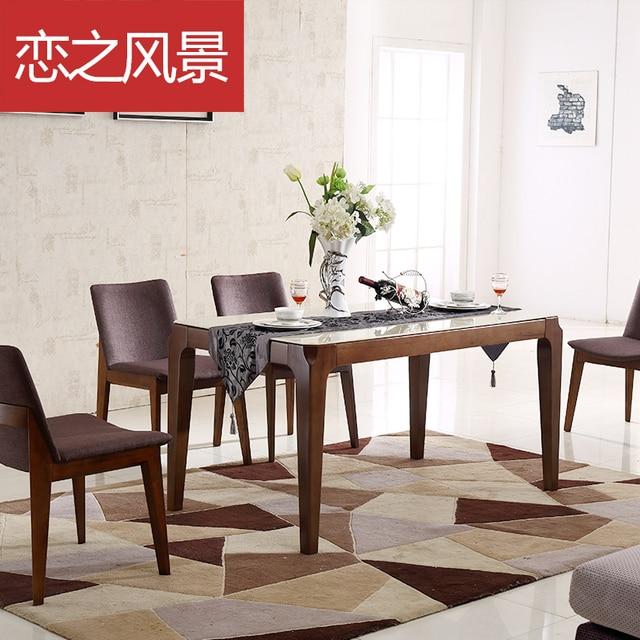 Flotante combinación paisaje de madera maciza mesas y sillas de ...