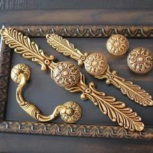 Unique Kitchen Cabinet Pulls Door Knob Handles Antique Brass Gold Drawer Pull Dresser Hardware