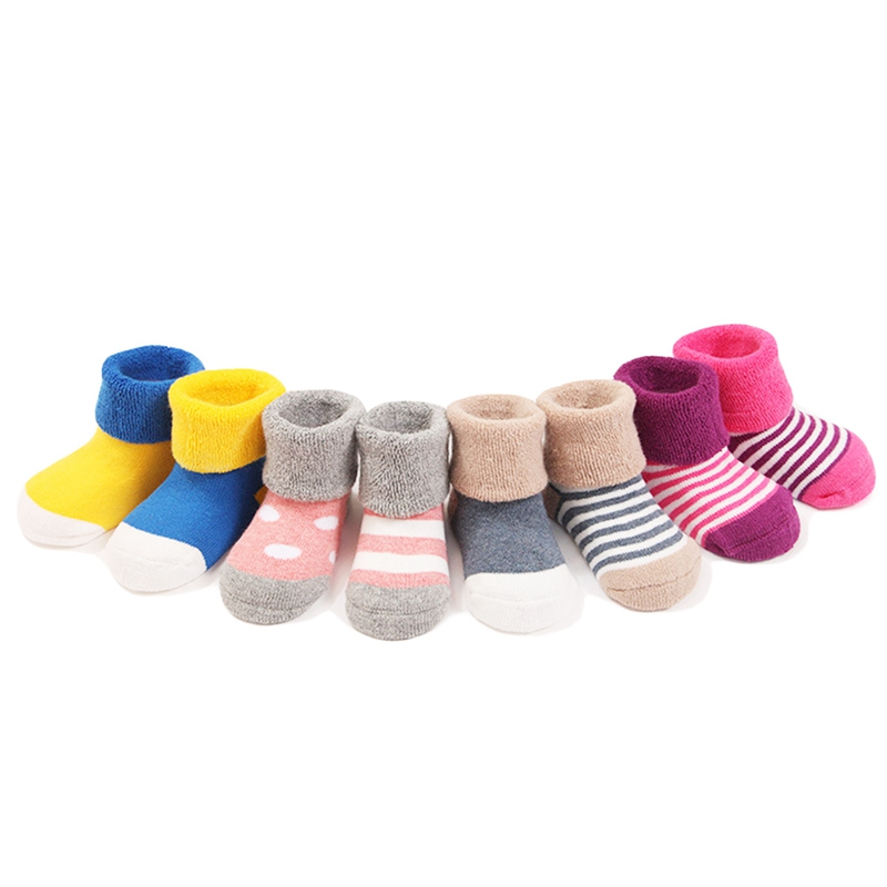 Baby Socks Cotton Winter Thick Tube Socks Baby Socks Cotton Autumn And Winter Newborn Floor Socks 0-1-3 Years Old