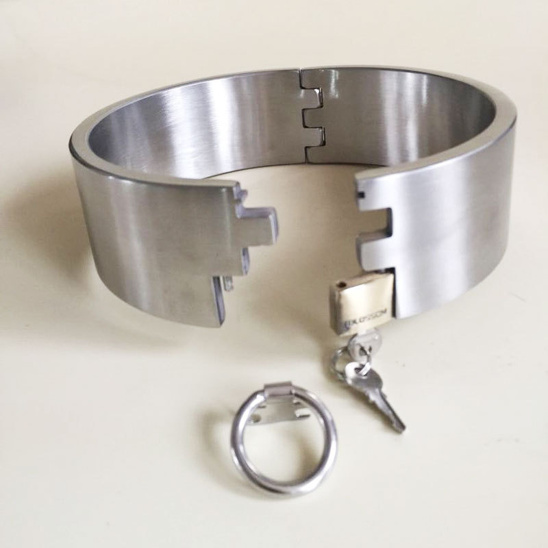 top quality stainless slave collar hight 6cm sex slave collar bdsm bondage collar fetish wear bondage harness sex tools for sale