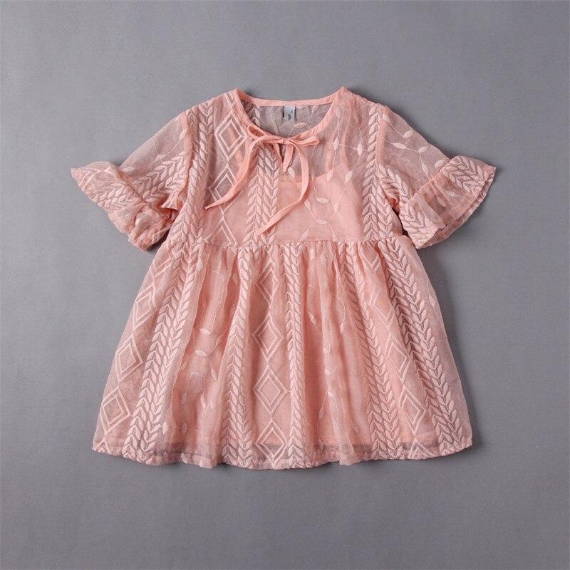 da3d0d20e5e9 Baby Girls Lace tutu Dresses Kids Girls Embroidered Wheat Princess Dress  Girl Summer Flare Sleeve Dress 2017 children s clothing-in Dresses from  Mother ...