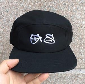 Image 5 - DongKing personnalisé 5 panneaux casquette de Baseball à bord court chapeau de relance texte libre broderie Logo impression coton réglable personnalisé