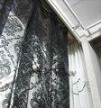 Модный цветочный оконный светильник из органзы, штора из флока для гостиной