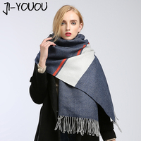 Scarves Women High Fashion 2017 Winter Scarf Plaid Pashmina Ladies Scarves Green Scarf Poncho And Capes