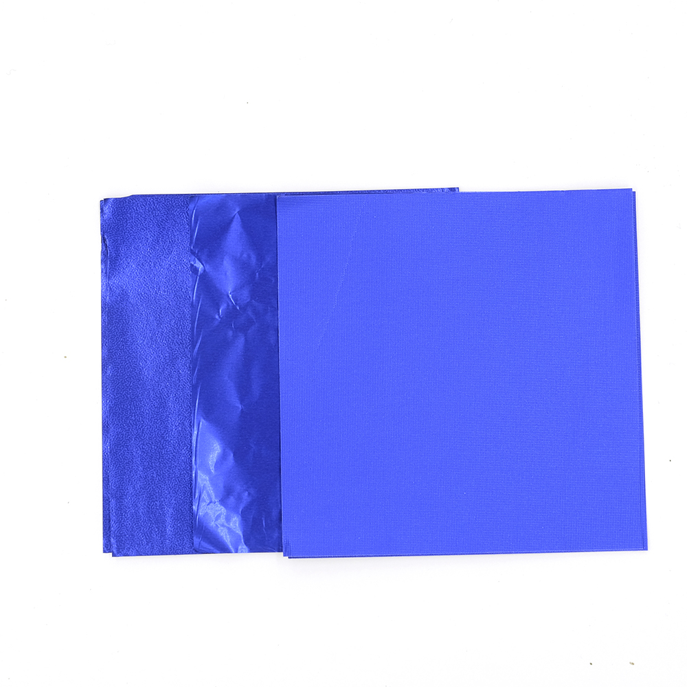 Embossed Blue Wring Tinfoil Paper Gift Chocolate Manual Candy Tea Aluminum Foil Wrer Sheets Free Shipping