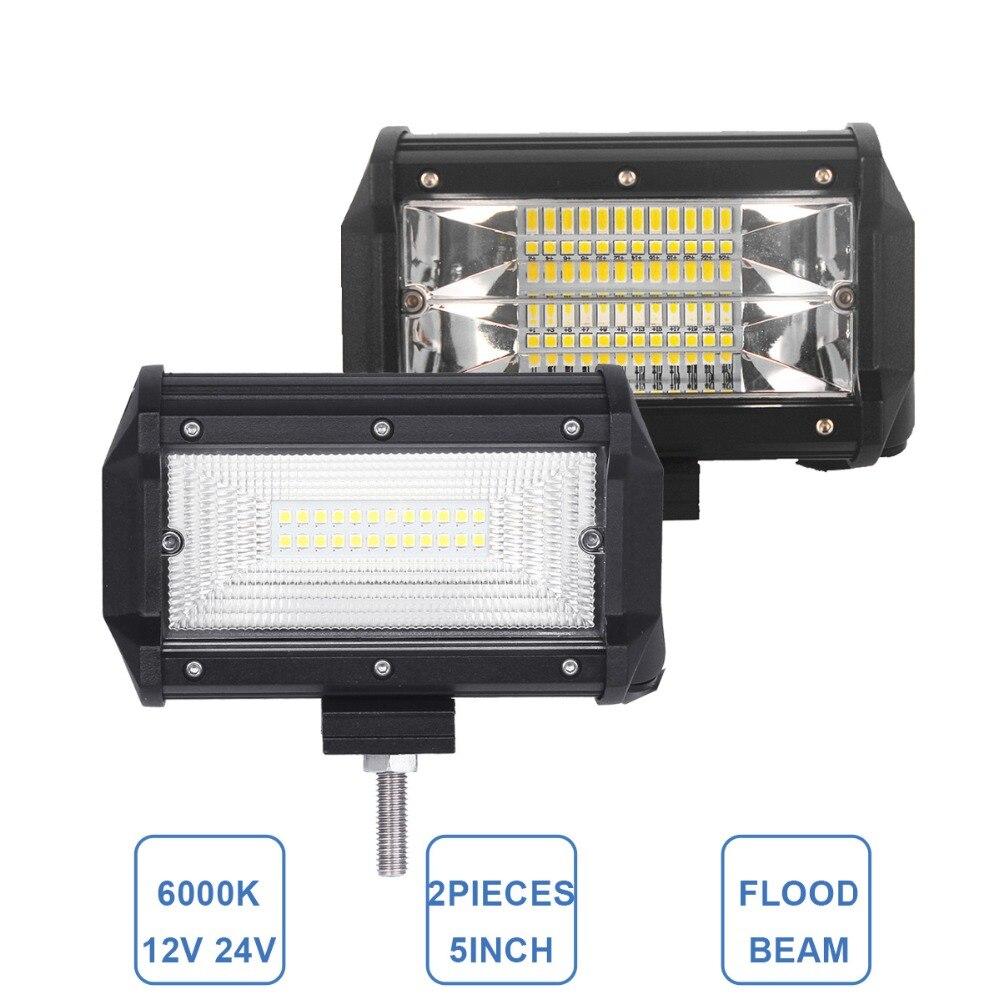 5 Inch Offroad LED Work Light Bar Driving font b Lamp b font Car ATV SUV