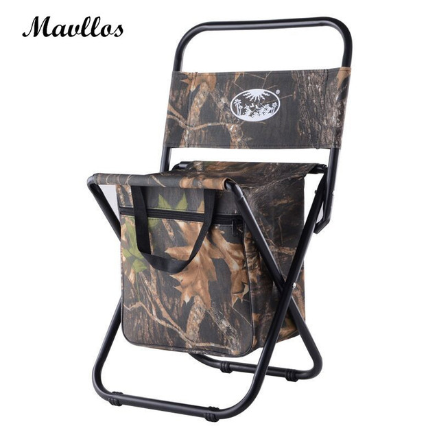Captivating Mavllos Ultralight Foldable Multifunctional Fishing Chair Camouflage  Camping Chair Aluminium Portable Folding Chair Outdoor