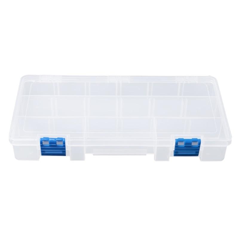 Portable 15 Components Storage Box Hardware Tool Parts Case Transparent Plastic