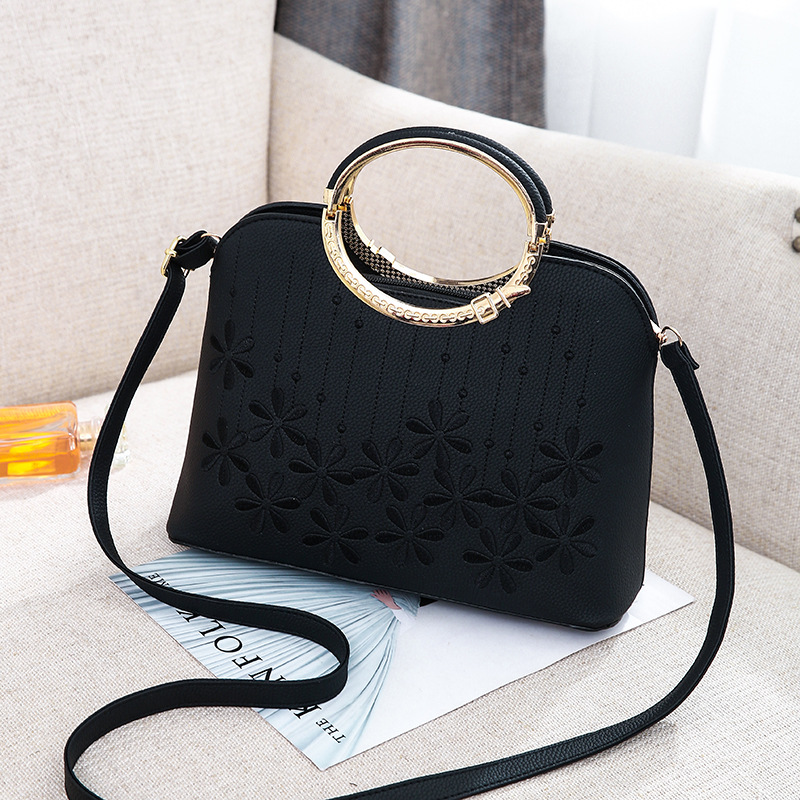 Seasons new style European and American female bags, embossed single shoulder bag.simple Fashion Handbag Crossbody bag