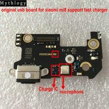 الأساطير الأصلي ل شاومي Mi8 USB مجلس فليكس كابل موصل هيكلي ميكروفون الهاتف المحمول IC دعم شاحن سريع