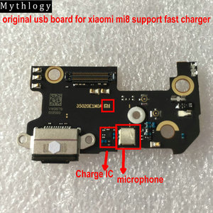 Image 1 - מיתולוגיה מקורי לxiaomi Mi8 USB לוח Flex כבל Dock מחבר מיקרופון טלפון נייד IC תמיכה מהיר מטען