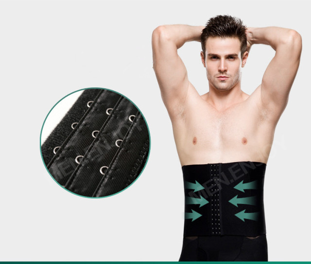 Sexy Men cintura alta controle barriga cintas Slimming Tummy Shaper Belt Body Sculpting abdômen cintura Shaper Cincher
