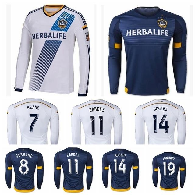 88e9bc1c15 Mais recente 5 estrelas Los Angeles Galaxy camisa de futebol de manga  comprida Landon Donovan LA