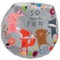 Cars  Fox Toys Storage Bag Kids Game Mats diameter 1.5m baby Crawling multifunctional round blanket Play Rug/Mat