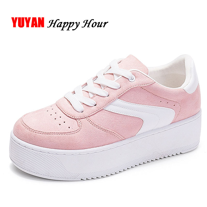 New 2018 Fashion Sneakers Women Platform Shoes Women's Sneakers Brand Height Increasing Shoes Pink Black White Plus Size ZH2765 new 2018 fashion sneakers women platform shoes women s sneakers brand height increasing shoes pink black white plus size