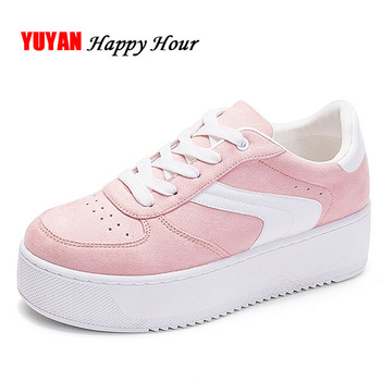 New 2018 Fashion Sneakers Women Platform Shoes Women's Sneakers Brand Height Increasing Shoes Pink Black White Plus Size ZH2765