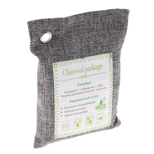 200g - Charcoal Deodorizer Odor Neutralizer Home & Car Freshener Bags, Bamboo Organic Activated Air Purifying Bags Silver 2 pack 200g bamboo odor eliminator bags natural air purifying freshenes