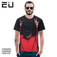 2018 Printed T Shirt Street Polyester Men Short Sleeve O Neck Vintage Character Famous Brand Men