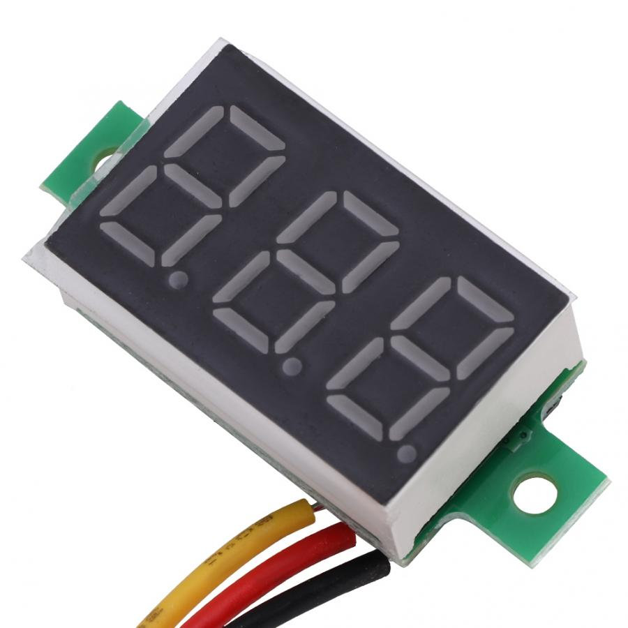 Mini Voltmeter 5pcs <font><b>0</b></font>.36 Inch LED Digital Tube Mini Voltmeter <font><b>DC</b></font> <font><b>0</b></font>-100V 3-Wire Voltage Tester Gauge <font><b>5</b></font> Colors image