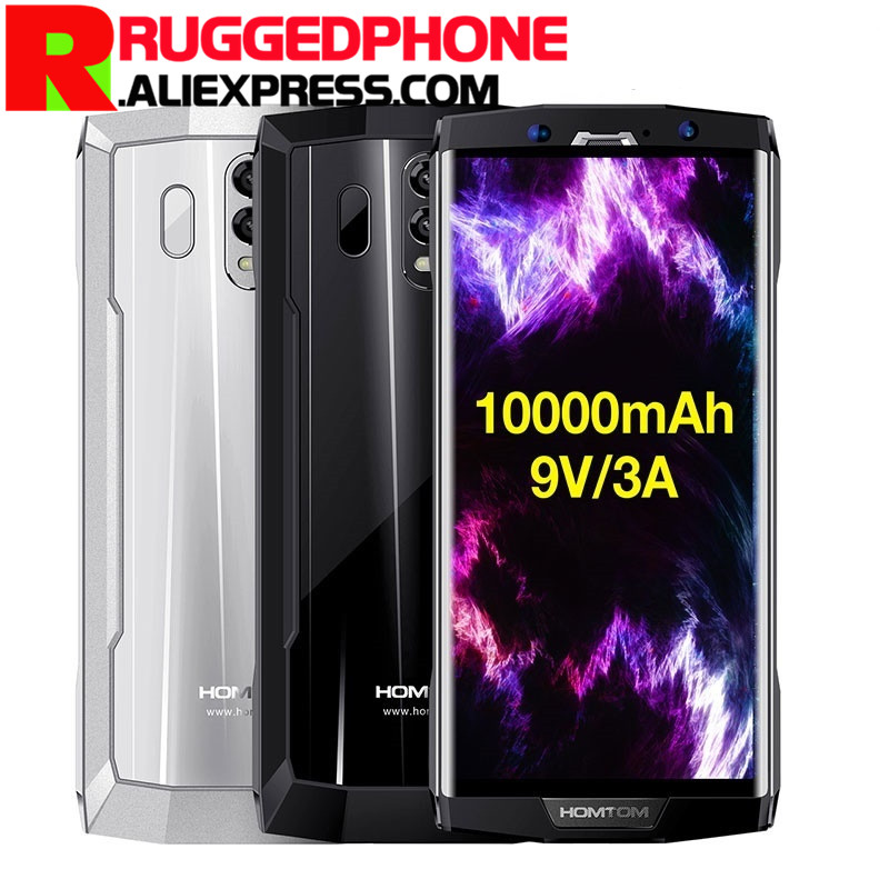 Original HOMTOM HT70 4G Mobile Phone Android 7.0 4GB+64GB Octa Core Smartphone 10000mAh Battery 6.0 inch HD+ Dual SIM Cell Phone mobile phone