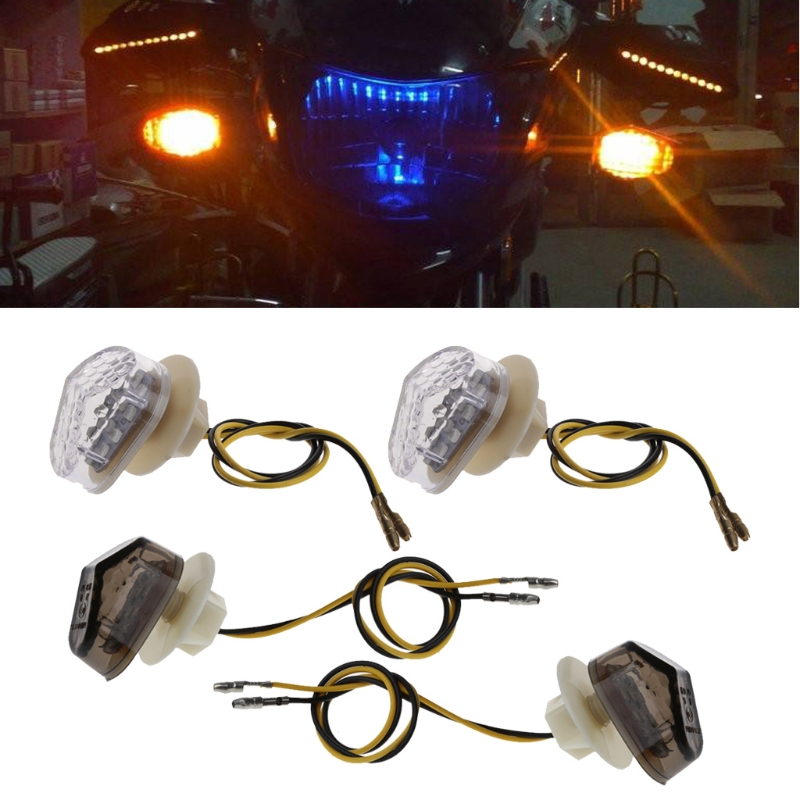 Motorcycle 12V Flush <font><b>LED</b></font> Turn Signal <font><b>Light</b></font> for <font><b>Yamaha</b></font> YZF <font><b>R1</b></font> R6 R6 SFZ1S FAZER image