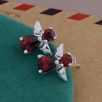 Pendientes de plata 925 pendientes de joyería de plata de ley 925 costosos/costosos pájaros/bzmakqta dlyamdfa AE654