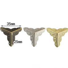 Wooden-Box Corner Bronze-Color White of Yellow Three-Kinds Four-Edgep Package Classical