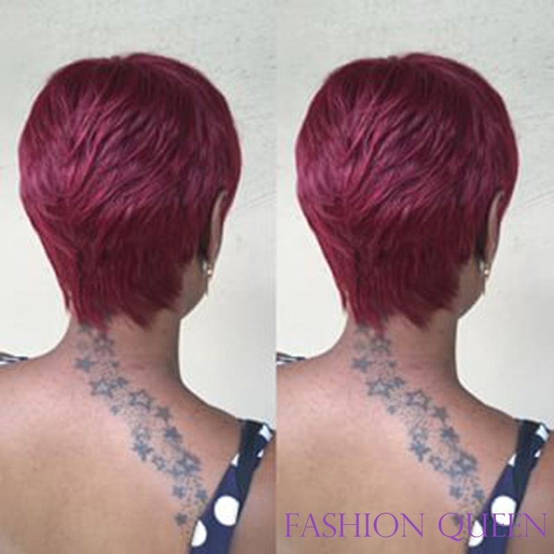 The Fascinating 3 Pcs 27 Pieces Short Hair Weave Bump 4 Inch 99j