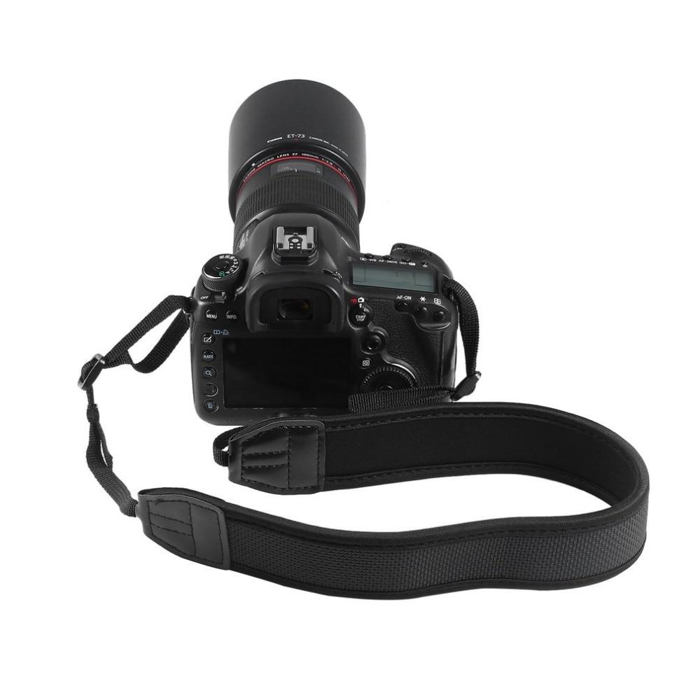1pc New Quick Rapid Camera Single Shoulder Neck Camera Adjustable Durable Anti-slip Strap Belt For SLR DSLR Black Accessory