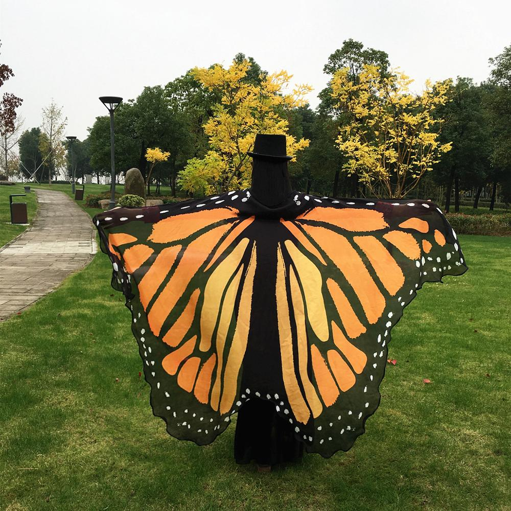 No Stick Belly Dance Butterfly Cloak Butterfly Shawl Europe And The United States Style Belly Dancing Butterfly Wings 197*130 Cm