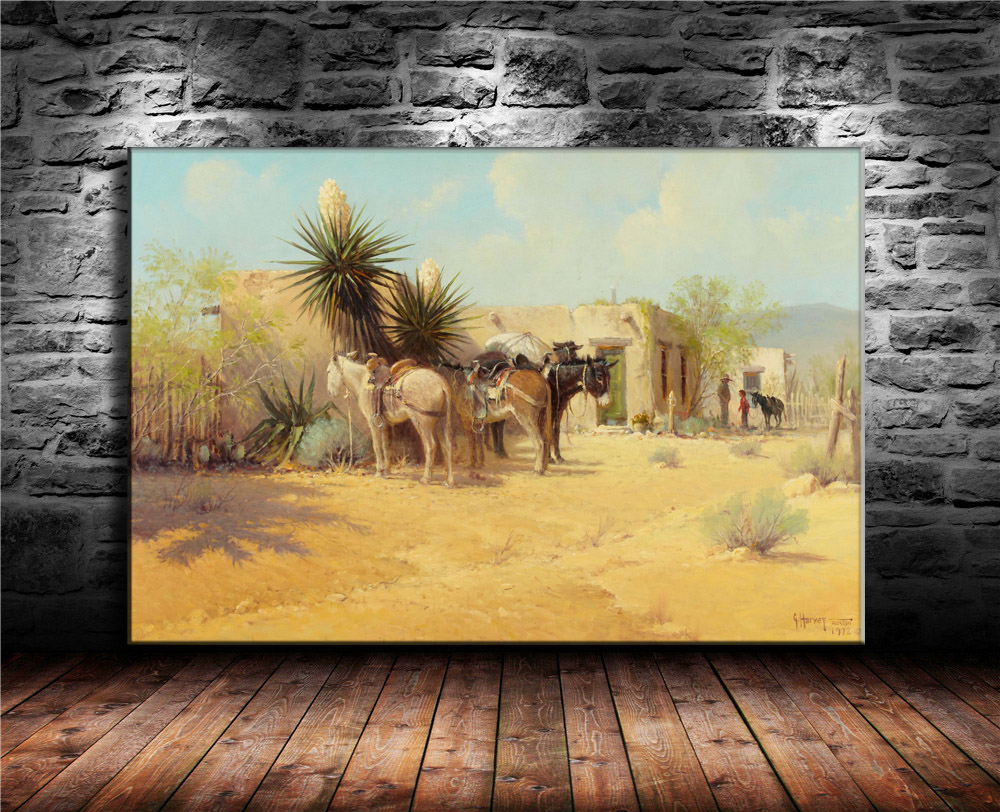 Gerald Harvey American Street View Western Indian Style Canvas ...