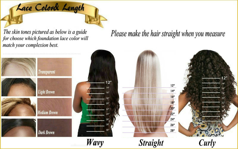 2.lace color&length