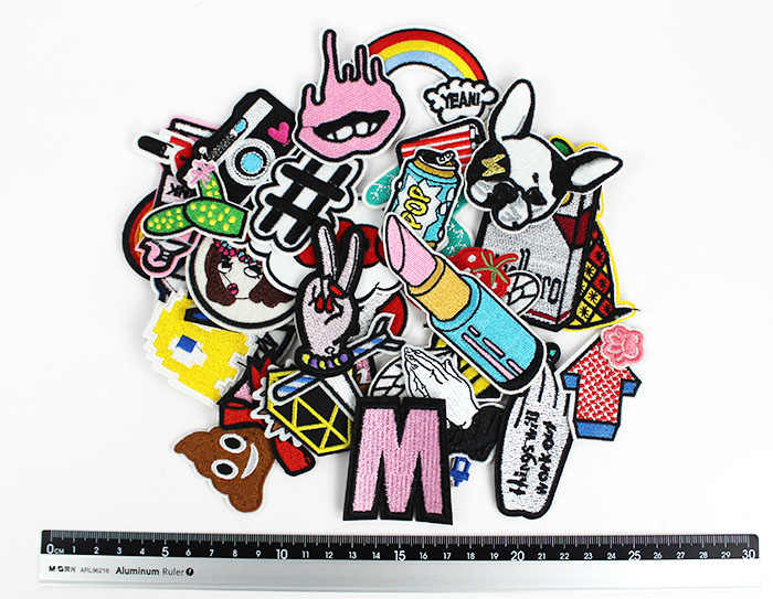 30pcs/lot new Fashion patches for women lovely girls iron on patch for clothes girils clothing DIY accessory