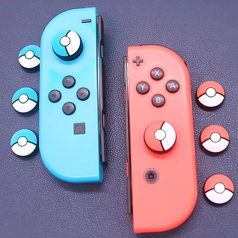 Thumb Stick Grips Cap Joystick Cover Skin For Nintend Switch Lite NS Mini Controller Pokemon Poke ball Plus Pokeball JoyCon Case(China)