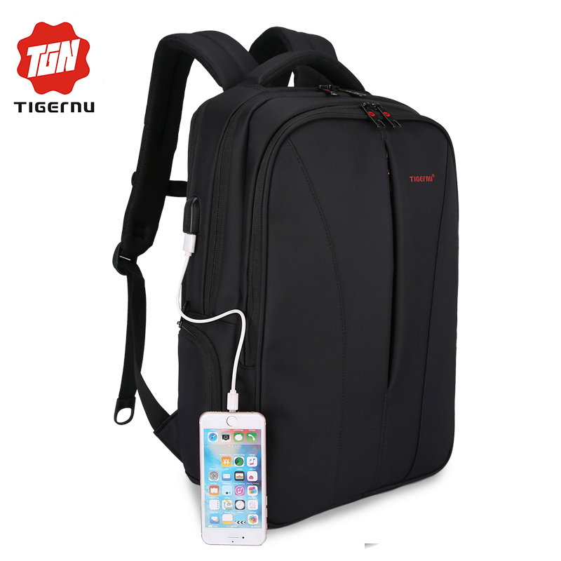 2017 Tigernu New waterproof usb charge 15 6inch font b laptop b font font b backpack
