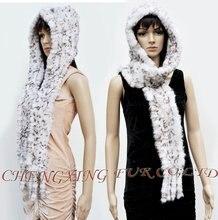 Cx-c-19a кролика ручной вязки шарф комплект