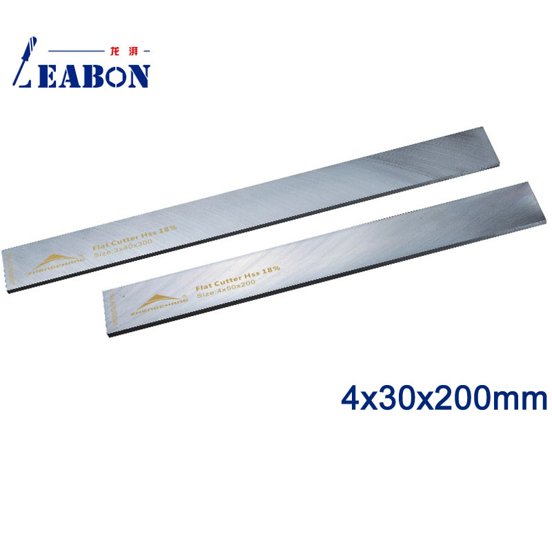 Woodworking Machinery & Parts a01009044 Contemplative Leabon 4 X30x200mm W18% Hss Flat Wood Planer Blades Cutting Tools