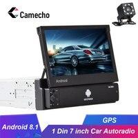 Camecho Android 8.1 1Din Car radio Multimedia Video Player Universal GPS Auto Stereo 7 HD Auto Radio Car Stereo Bluetoth Radios