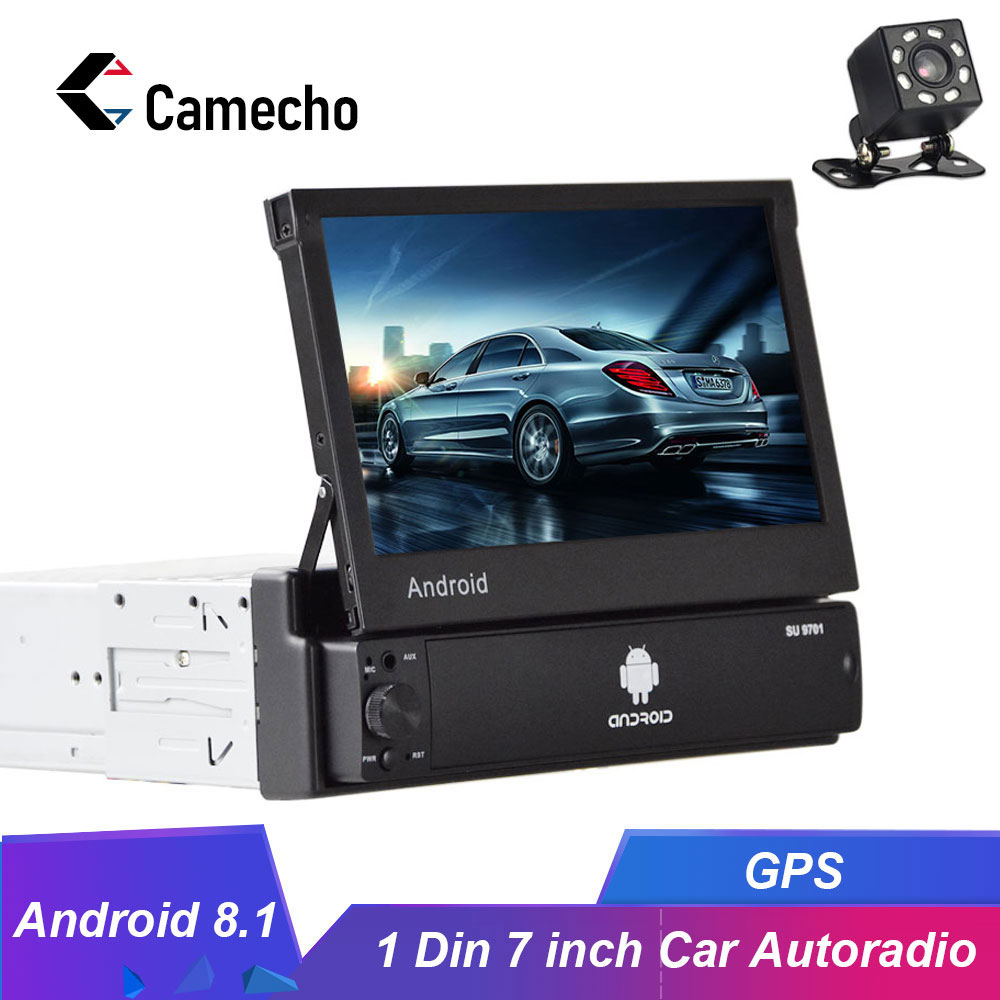 Camecho Android 8.1 1Din Car radio Multimedia Video Player Universal GPS Auto Stereo 7 HD Auto Radio Car Stereo Bluetoth Radios image