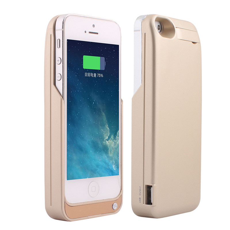 imágenes para Envío gratis 4200 mAh Cargador de Batería de Reserva Externa Paquete por Caja banco de la energía para apple iphone 5 5s 5c cargador de batería caja