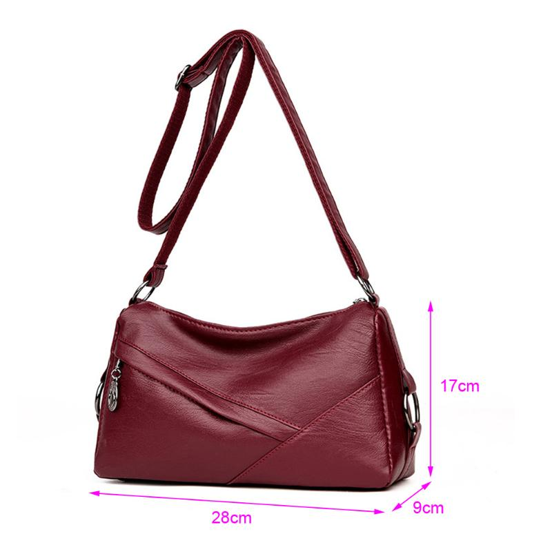 d6afa73e7825 Women Messenger Bags Handbag Square Retro PU Leather Solid Color Crossbody  Bag for Women Ladies Black Wine Red Shoulder Bags