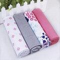 4 unids/lote bebé recién nacido cama hoja de cama 76x76 cm conjunto de recién nacido super suave ropa de cama cuna cuna barato muchacha del muchacho 100% algodón manta