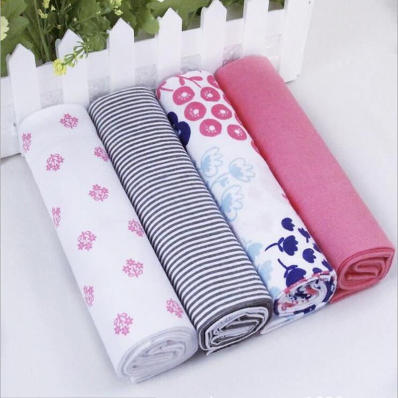 4pcs/lot Newborn Baby Bed Sheet Bedding 76x76cm Set For Newborn Super Soft Crib Cheap Linen Cot Boy Girl 100% Cotton Blanket