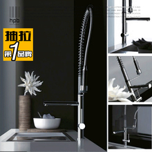 Wuhan медь тянуть высокая горячей и холодной кухонная раковина воды раковина кран HP4107