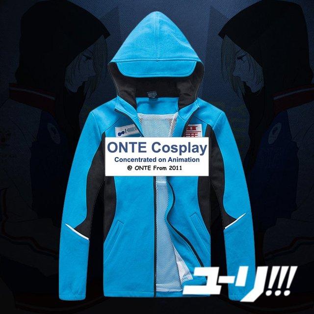 2017 Nuevo YURI! el ice cosplay capa katsuki yuri deporte traje de lujo con capucha sudaderas tops chaquetas sudaderas
