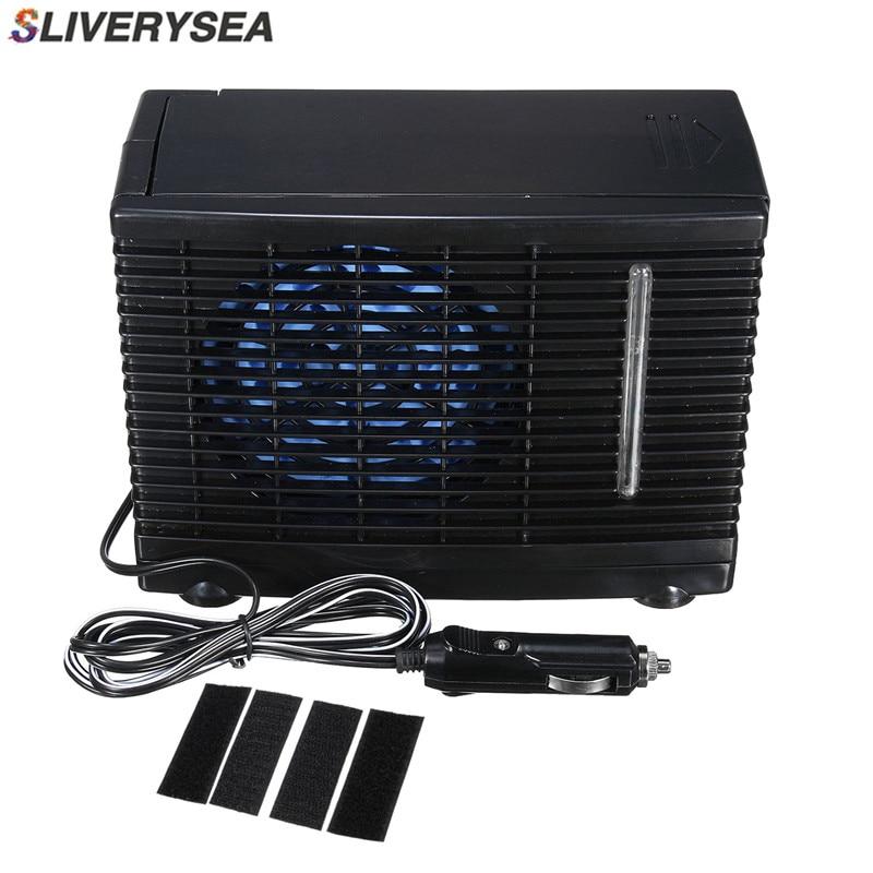 SLIVERYSEA 24V Car Air Conditioner 60W Black Portable Mini Cooling Fan Air Conditioner Water Air Cooler #B1025 universal dc 12v evaporative air conditioner 35w black portable mini cooling conditioner water evaporative car air fan