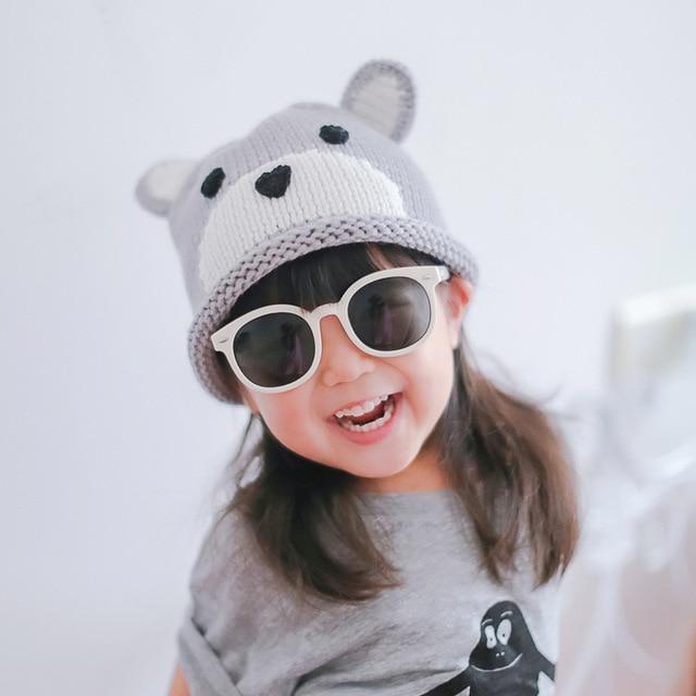 1 unids 2016 gris oso de dibujos animados los niños otoño sombreros ...