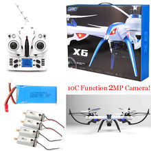 Free Shipping! JJRC H16 Tarantula X6 drone 4CH RC Quadcopter 2MP Cam Hyper IOC +4 Motor+Battery